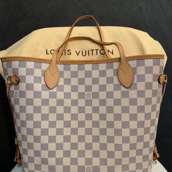 Louis Vuitton Handbags - Authentic Louis Vuitton Neverfull MM Damier Azur